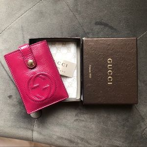 Authentic Gucci Soho Pink Cardholder